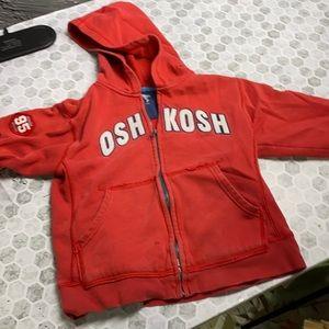 Osh Kosh Sz 7 Red Zip Up Hooded Jacket